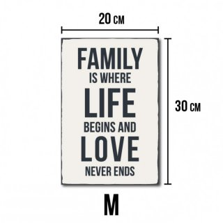 Family is where life begins and love never ends #R1 M